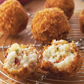 Bacon Grits Fritters.