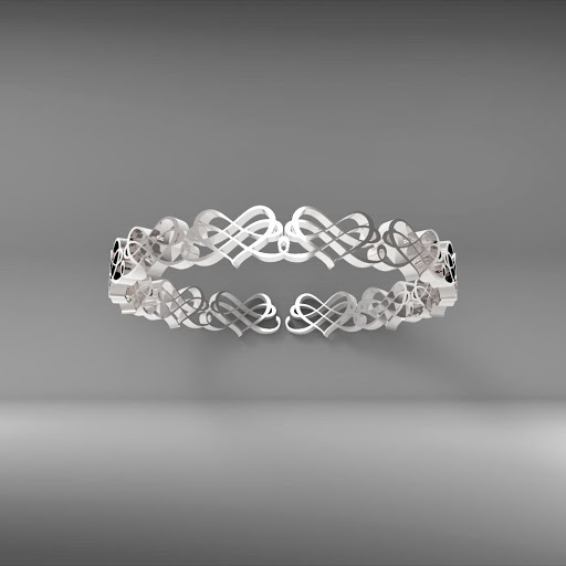 classical heart ring