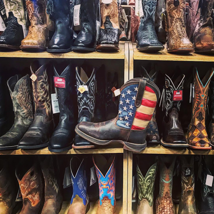 Miles and miles of boots at The Wrangler. Photo: Kholood Al-Ghasra.
