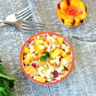 Curried Peach Corn Salsa.