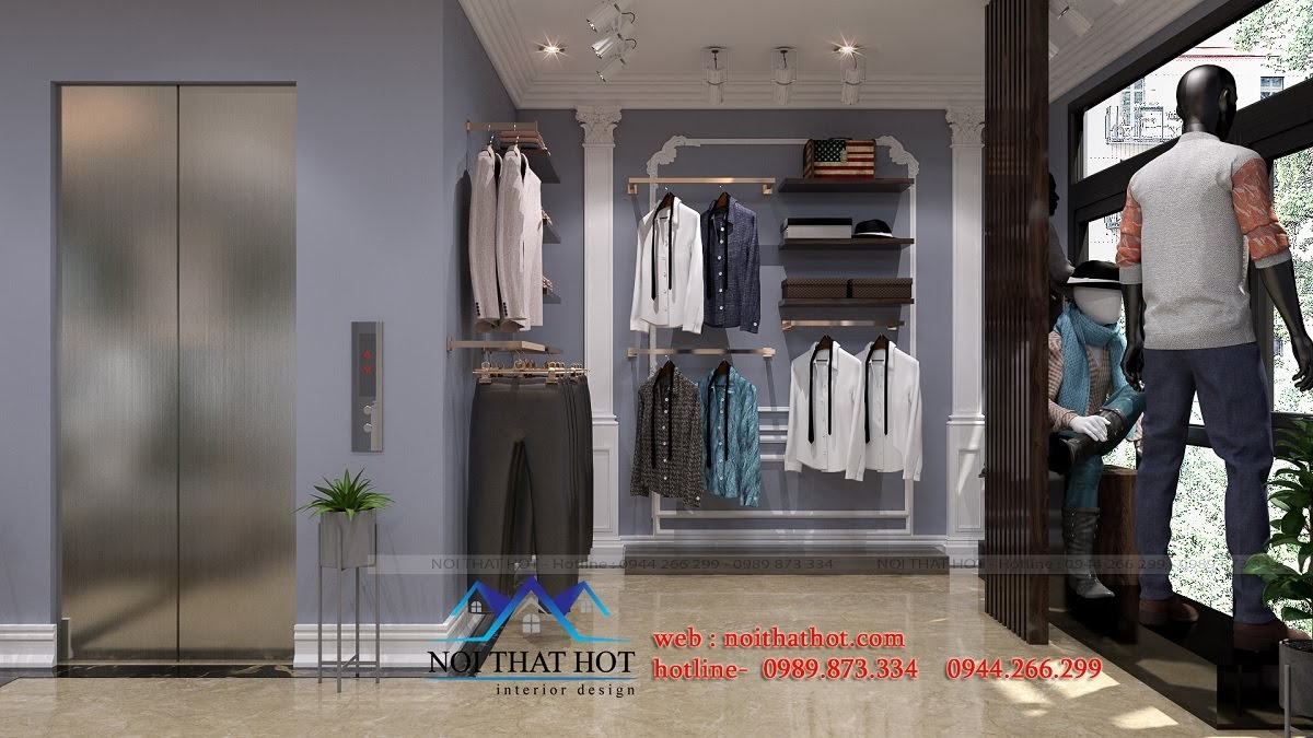 thiết kế shop thời trang sang trọng 13