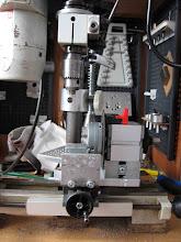Photo: principe du montage revu et corrigé pour travailler dans l'axe de la glissière