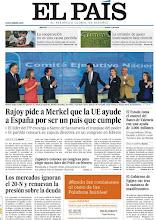Photo: Rajoy pide a Merkel que la UE ayude a España, la respuesta de los mercados a las elecciones y la caída del Gobierno de Egipto, en nuestra portada. http://www.elpais.com/static/misc/portada20111122.pdf