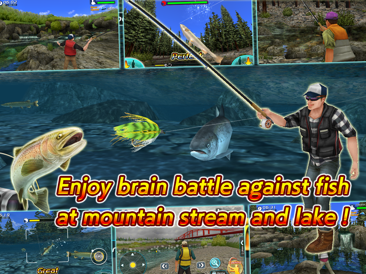 Fly fishing 3d ii android apps on google play for Fly fishing games