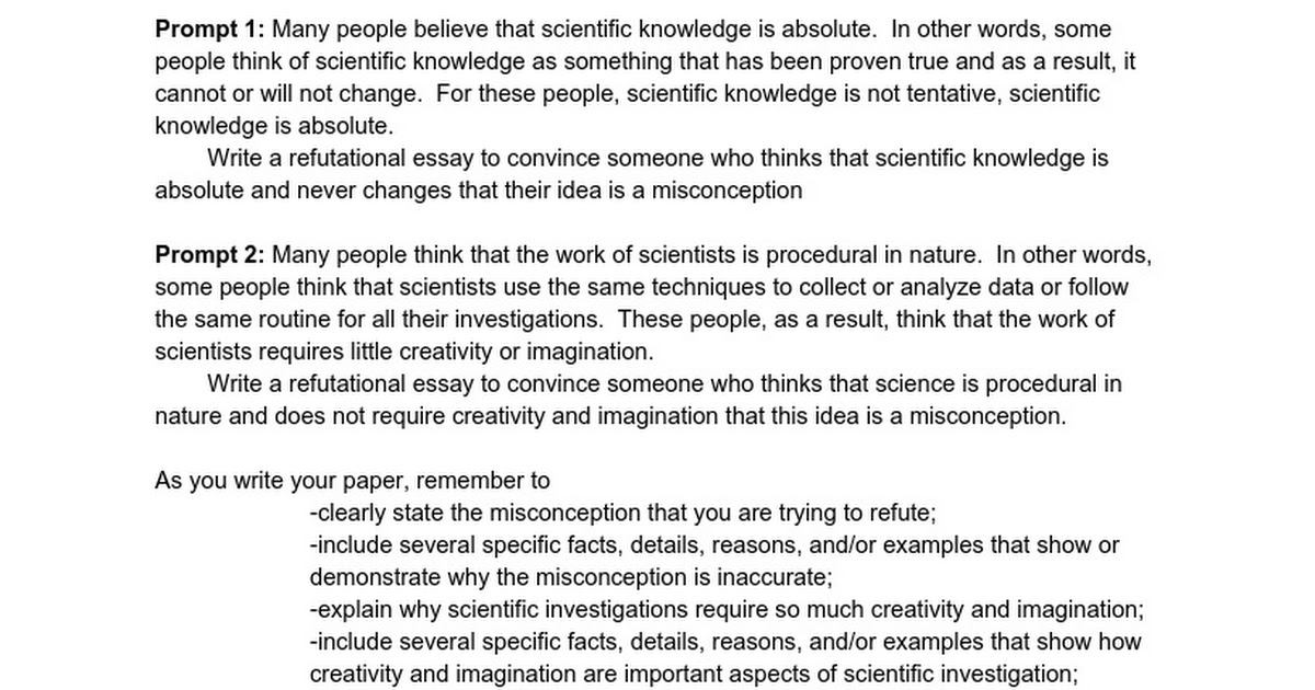 Misconceptions about Science - Google Docs