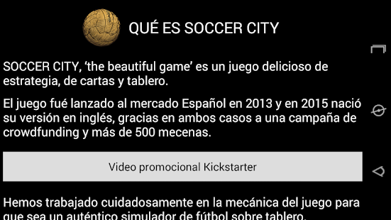 Soccer City en Español- screenshot thumbnail