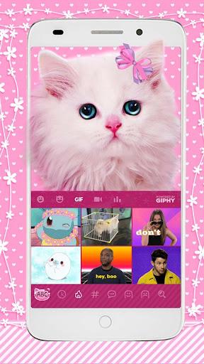 cute pink kitty keyboard screenshot 3