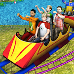Theme Park Roller Coaster Ride Icon
