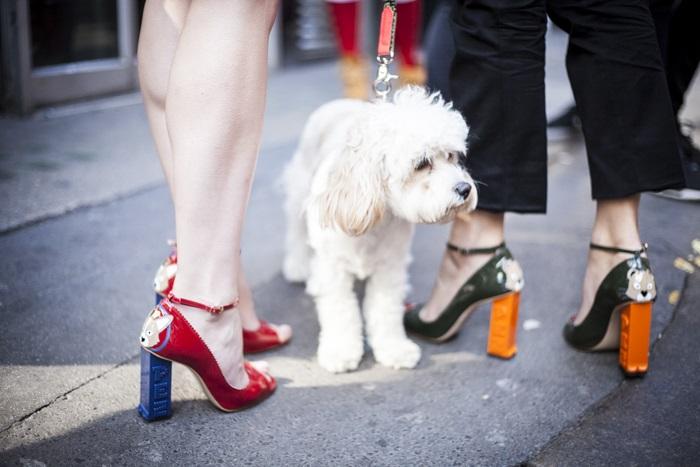 Colour pop heels at LFW15