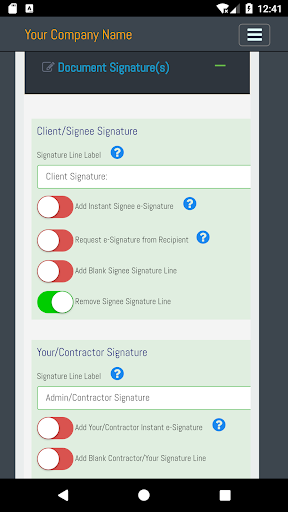 Screenshot for Contra Sign E Signature app in United States Play Store
