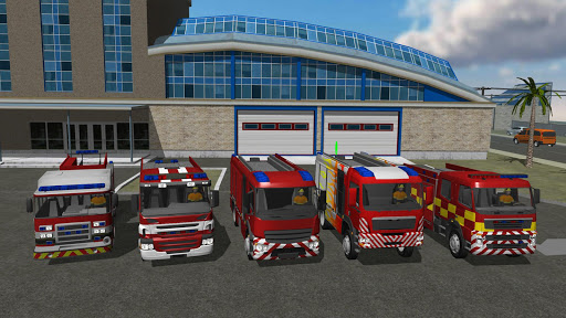 Fire Engine Simulator captures d'u00e9cran 1