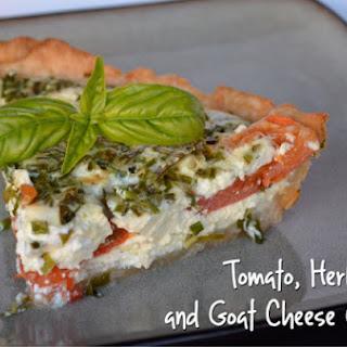 Tomato, Herb & Goat Cheese Quiche