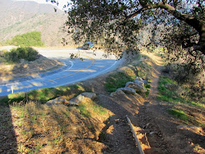 Photo: 3:10 - On Upper Colby Trail arriving at Glendora Mountain Road. The trial will continue to the right.