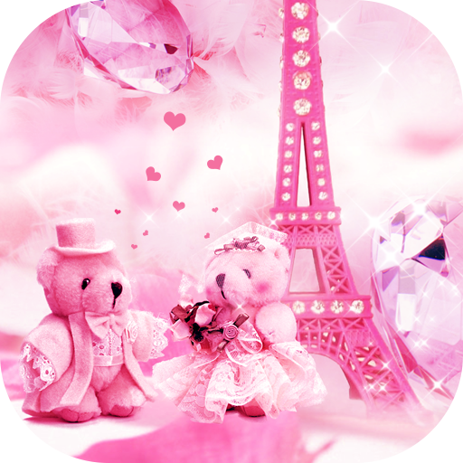 Teddy bear love theme in Paris (app)