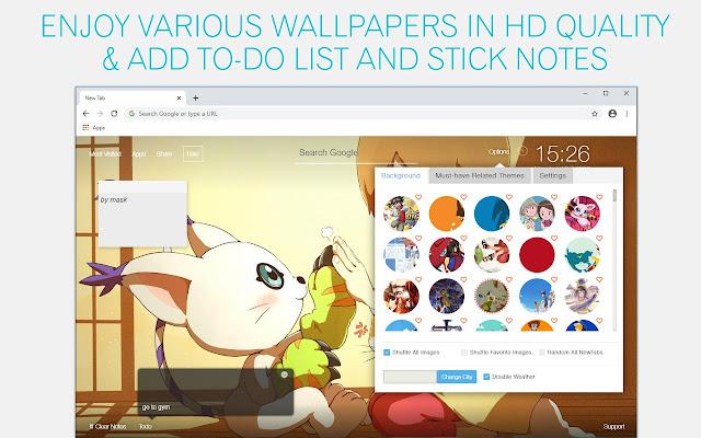 Digimon Wallpaper HD Digimon New Tab