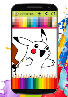 Coloring Book For Super Pikachu - náhled