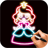 Learn How To Draw Glow Princess Step by Step