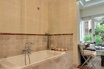 Fully furnished bathroom at 4 bedroom Trocadero Apartment, Champs Elysees