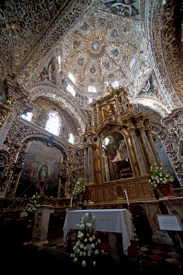 Church  in Puebla by Cristobal Garciaferro Rubio - Buildings & Architecture Places of Worship ( church, mexico, puebla, downtown at puebla )