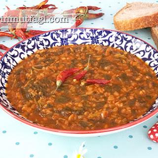 Purslane With Bulghur Wheat