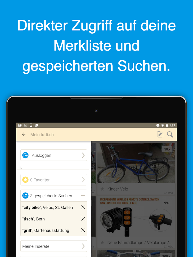 tutti.ch - Gratis Inserate – Screenshot