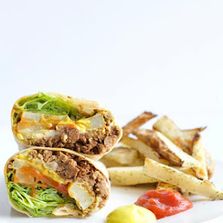 Cheeseburger Burrito with Dill Pickle Fries Recipe