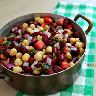 Bean Salad - a side dish that boasts the flavor of fresh herbs