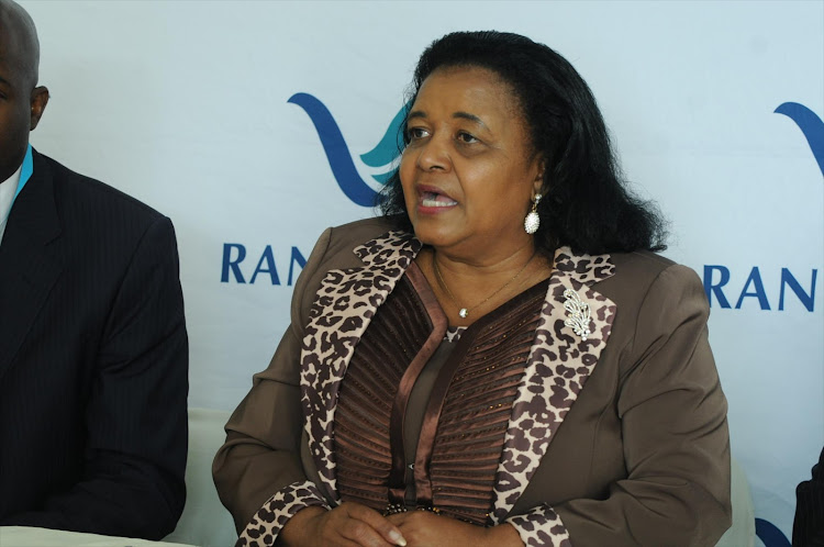 The late environmental and water affairs minister Edna Molewa.