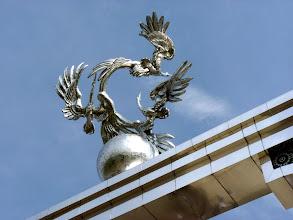 Photo: 3 verschlungene Kraniche - die usbekischen Nationalvögel