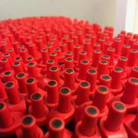 Free - Take one!  PLEASE? by Mike DeLong - Abstract Patterns ( red, plastic, gathered, pens,  )