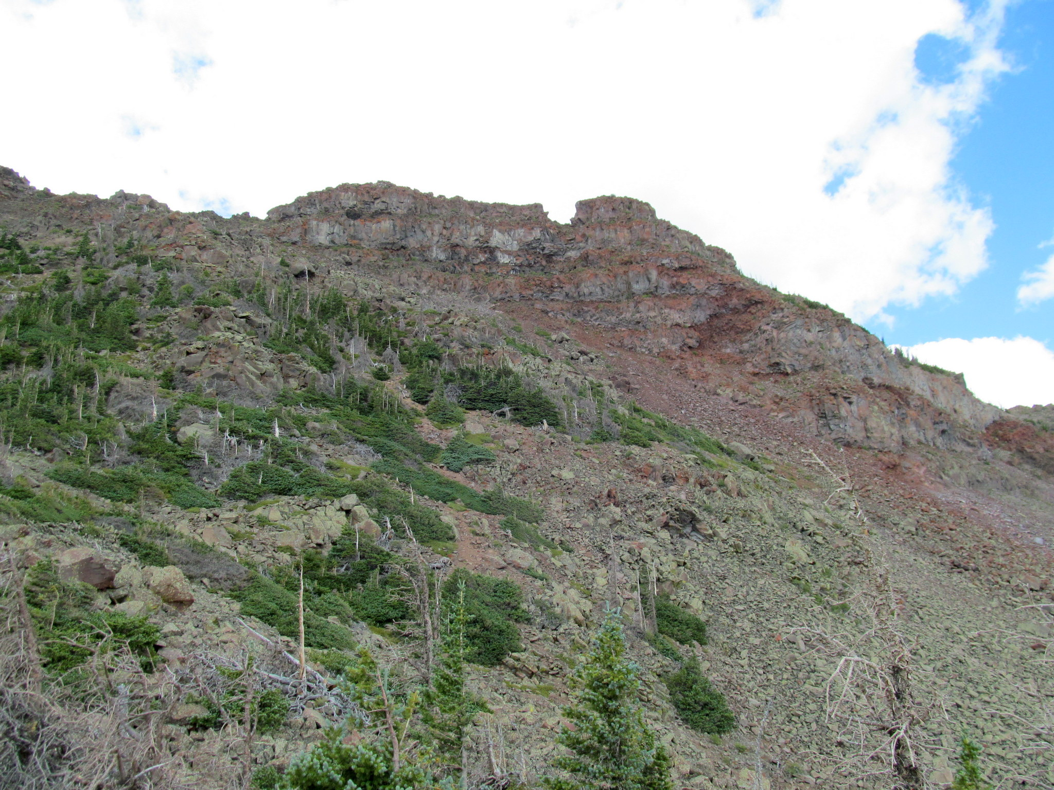 Photo: Mount Marvine summit on the right
