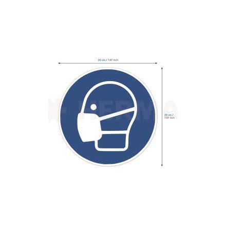Etikett Använd munskydd 5/fp