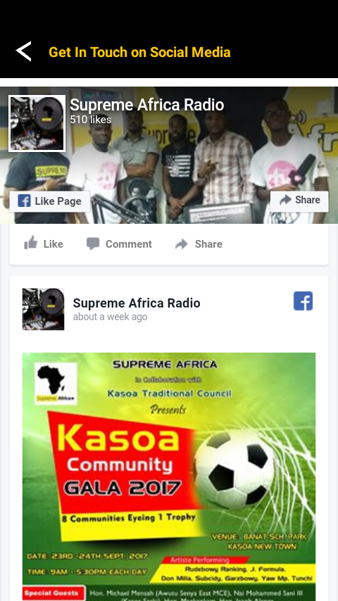 Supreme Africa Radio- screenshot