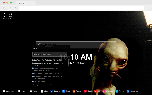 Alien Pop Movie HD Wallpapers New Tabs Theme