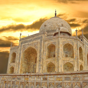 taj by Rs Photography - Buildings & Architecture Public & Historical ( digital, lovely, art, wallpaper, large, mobile, screen, wallpapers, best, prints, cover, 3d, beautiful, awesome, desktop, background, newart, fullhd, hd, latest )