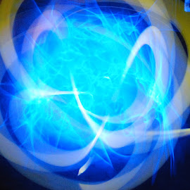 Color Swirl by Micah Lopez - Abstract Light Painting ( blue, screen saver, glow sticks, yellow, long exposure )