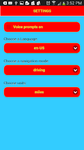 Voice Navigation Screenshot