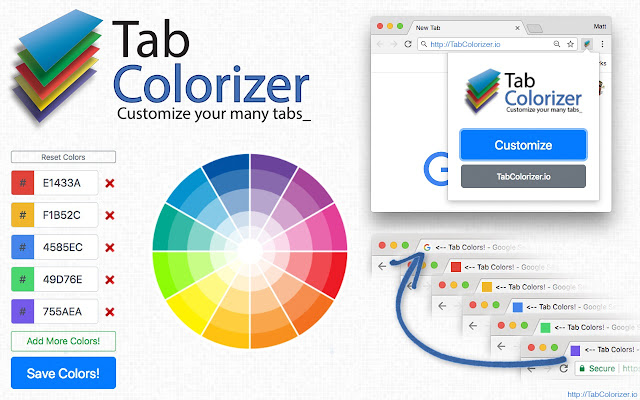 Tab Colorizer   Customize your tab's color!