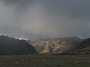 Photo: When all other hill was under shadows of clouds, this one was glittering like gold