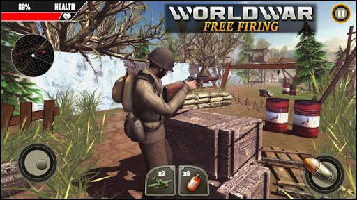World War ww2 Firing battlegrounds: Free Gun Games android2mod screenshots 4