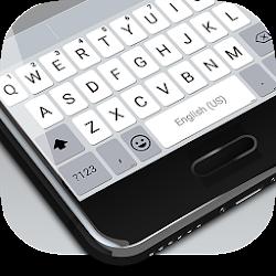 White Emoji Keyboard Theme - Pearl White & Emoji