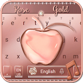 Crystal Apple Rose Gold - Music Keyboard Theme
