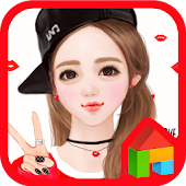 nana lips Dodol launcher theme