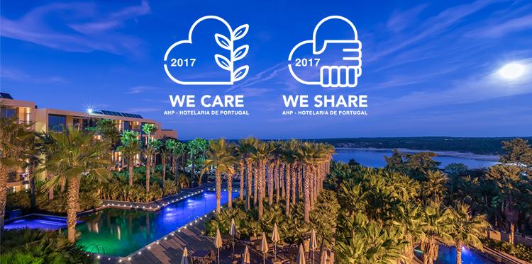 Hotéis NAU distinguidos com selos We Share e We Care pelo terceiro ano consecutivo