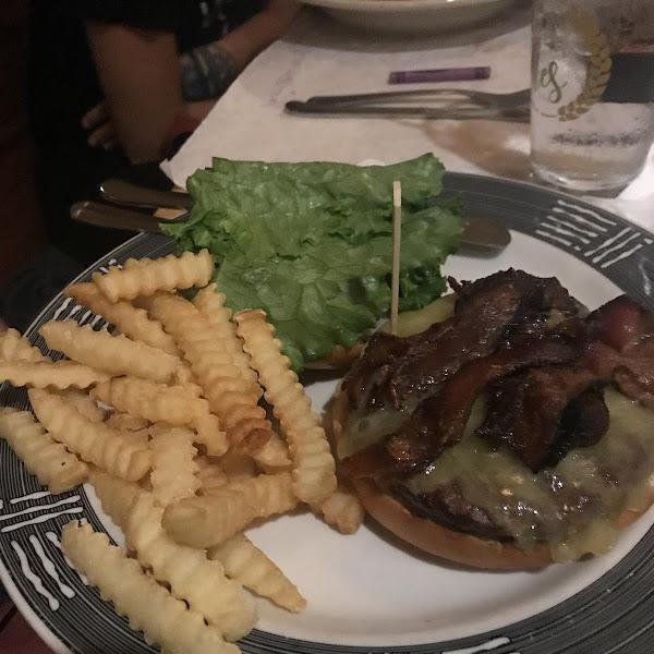 Burger and gf fries