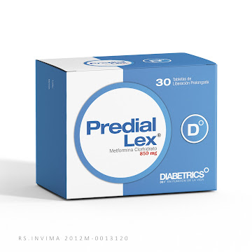 Predial Lex 850mg caja x   30 tab Metformina Clorhidrato    .