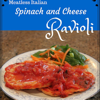 Meatless Italian Spinach Ravioli.