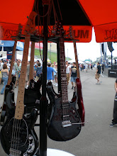 Photo: John Petrucci model guitar at the Ernie Ball booth
