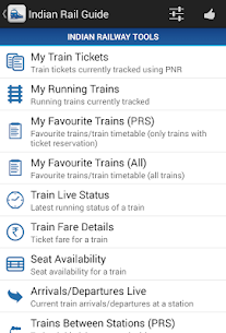 Download Indian Rail Guide App for Android 1