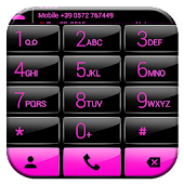 Dialer Gloss Black Pink Theme